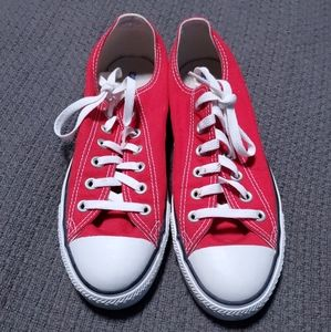 Classic Red Converse All Star Low Tops Ankle Shoes